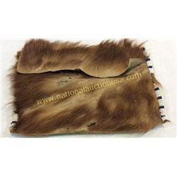 Elk Hide And Beaded Bag 1900's
