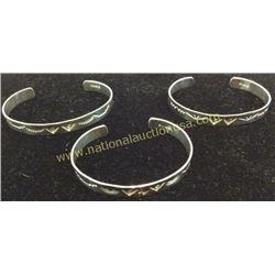 3 Sterling Cuffs