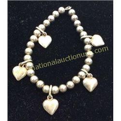 Sterling Heart Bracelet