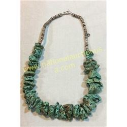 Turquoise Coral Necklace From Crow Spring Mine