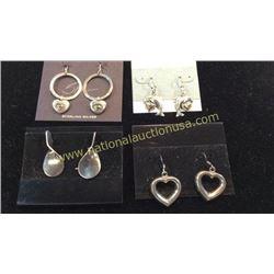 4 Sets Sterling Earrings