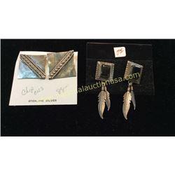 2 Sets Sterling Earrings