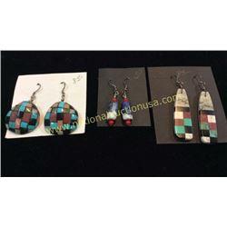 3 Sets Turquoise Earrings