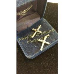 Mt Silver Smith Sterlings Cross Earrings