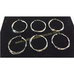 3 Sets Sterling Earrings