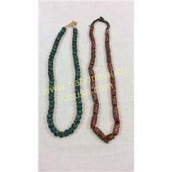 2 Trade Bead Necklaces