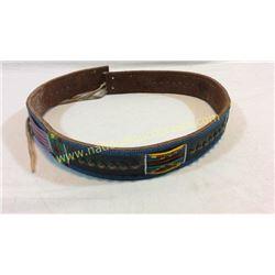Crow Beaded Leather Belt