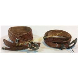 2 Belts With Sterling Ranger Buckles