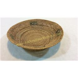 1940s Navajo Green Block Design Basket