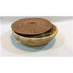 Woven Basket And Lid