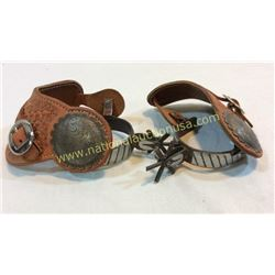 Mexican Spurs With Large Concho Straps