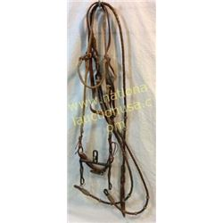 Braided Leather Bridle With Braided Leather R