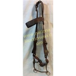 Early Western Cowboy Headstall With Handmade I