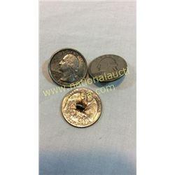 3 Quarter Buttons