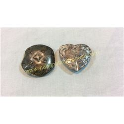2 Sterling Button Covers
