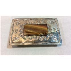 Sterling Belt Buckle Buckle with Polished Agate
