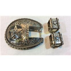 Texas Ranger Belt Buckle Set