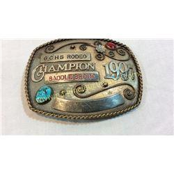 Rodeo Champion Belt Buckle