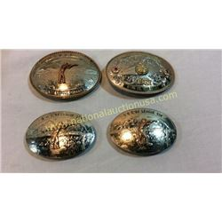 Collection Of Shooting Champion Belt Buckles