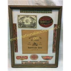Cigar Labels In Antique Frame