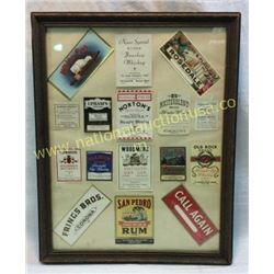 Pre 1950s Whiskey Labels In Frame