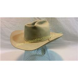 Antique Cowboy Hat Lined With Stetson Stamp 7x