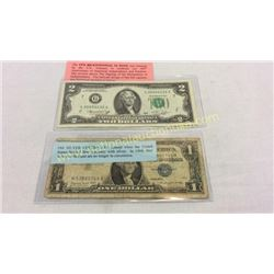 1978 $2 Note And Old Silver Certificate