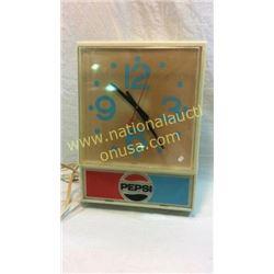 Pepsi Advertising Clock Plastic Case