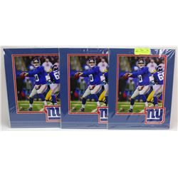 LOT OF 3 NEW YORK GIANTS ELI MANNING