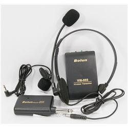 NEW BOLUN WIRELESS RADIO SET INCLUDING