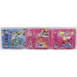 BUNDLE OF 3 KIDS WATCH AND WALLET SETS