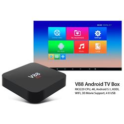 NEW 4K V88 ANDROID TV BOX MULTIMEDIA GATEWAY WITH