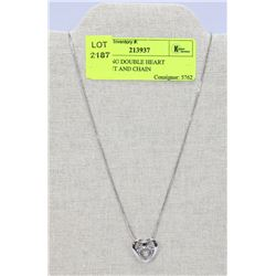 FLOATING DOUBLE HEART PENDANT AND CHAIN