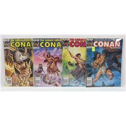 #134-137 CONAN THE BARBARIAN MARVEL COMIC BOOKS
