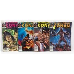 #138-141 CONAN THE BARBARIAN MARVEL COMIC BOOKS