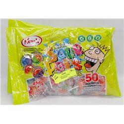 3 BAGS OF BIG LOLLYPOPS ORIGINAL SOUR POPS