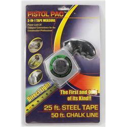 NEW PISTOL PAC 3-IN-1 TAPE MEASURE