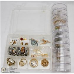 CASE OF JEWELRY AND JEWELRY TUBE FILLED