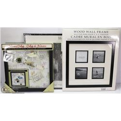 3 ASSORTED PICTURE FRAMES