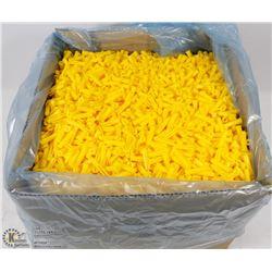CASE OF YELLOW 8-10 PLASTIC PLUGS