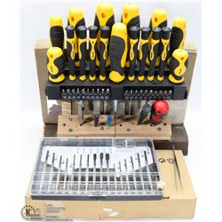 MULTI-SCREWDRIVER SET ON STAND & MORE