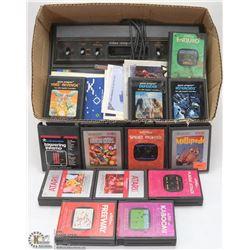 BOX OF ATARI GAMES & ACCESSORIES