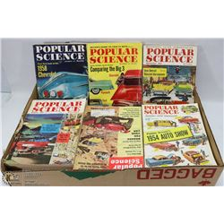 FLAT OF POPULAR SCIENCE BOOKS-1950'S TO 1960'S