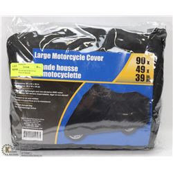 LARGE NYLON MOTORCYCLE COVER WITH STORAGE