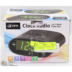 #28-LOT OF 2 CLOCK RADIO WITH AUTO TIME SET (
