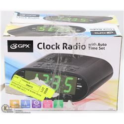 #29-LOT OF 2 CLOCK RADIO WITH AUTO TIME SET (