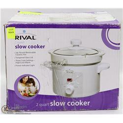 #57-RIVAL 2 QUART SLOW COOKER