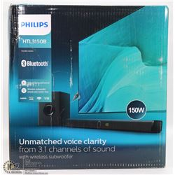 #22--PHILIPS SURROUND SOUND 150W BLUE TOOTH