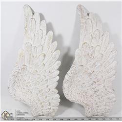 SET OF 2 LEFT SIDE CERAMIC ANGEL WING