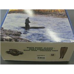 White River classic mens breathable waist high - stocking foot Med.